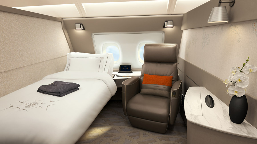Singapore Airline neue Skyroom-Suiten