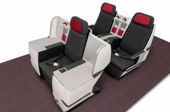 Business Class Sitz in der Neuen Austrian Airlines Business Class