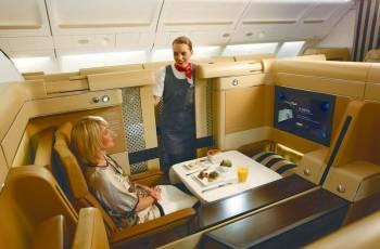 Bild der First Class von Ethiad Airlines