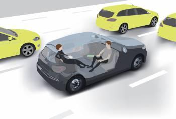 Direktes Reisen ohne den Flughafen-Stress: autonome Autos haben viele Vorteile.